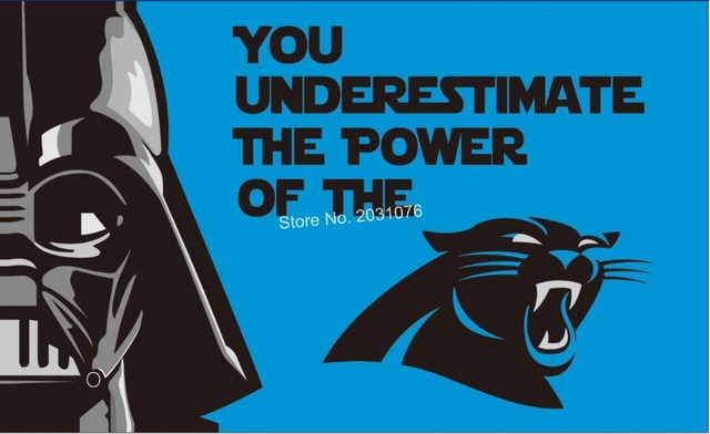 Carolina Panthers star wars flag 3x5ft Banner 100D Polyester Flag