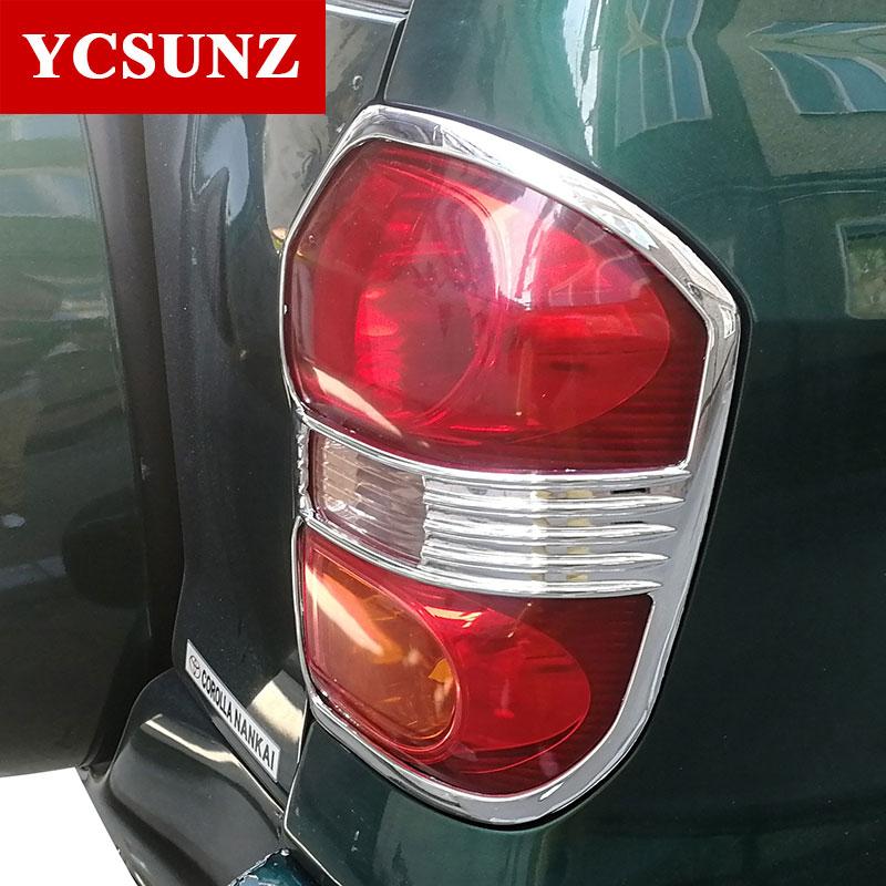 2001 2005 For Toyota Rav4 Accessories Abs Chrome Rear Lamp Cover Strips For Toyota Rav 4