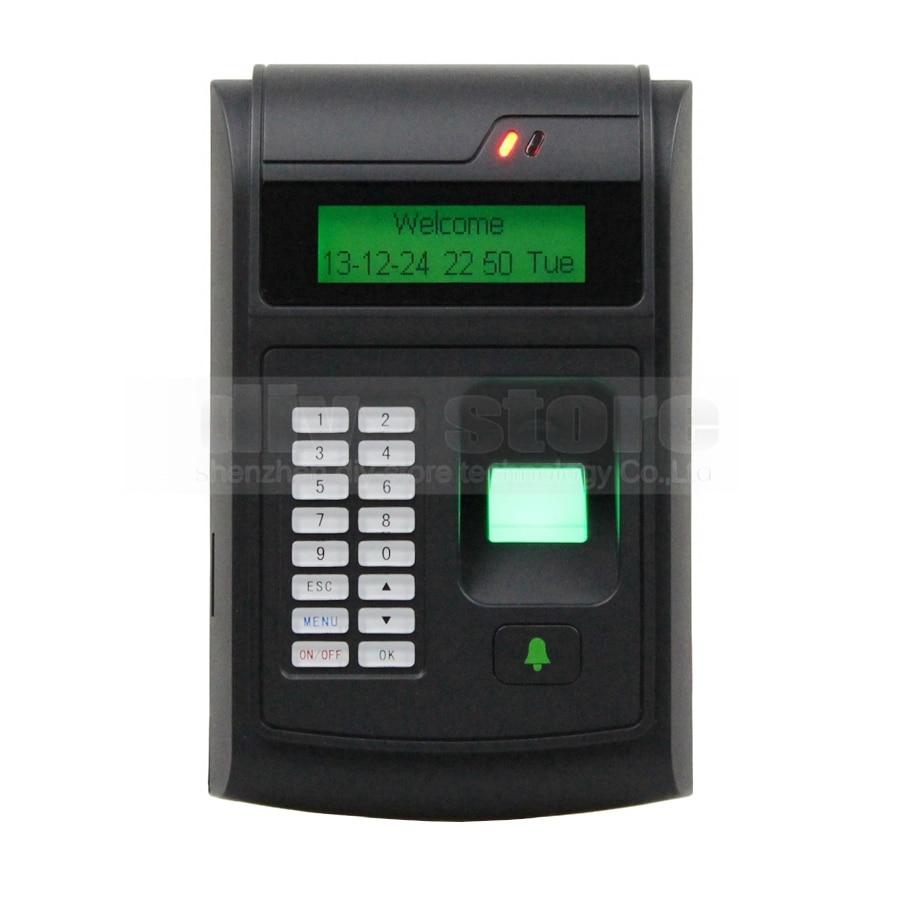 ФОТО DIYSECUR LCD Biometric Fingerprint PIN Code Door Lock Access Control + 125KHz RFID ID Card Reader Keypad USB / Door Bell Button