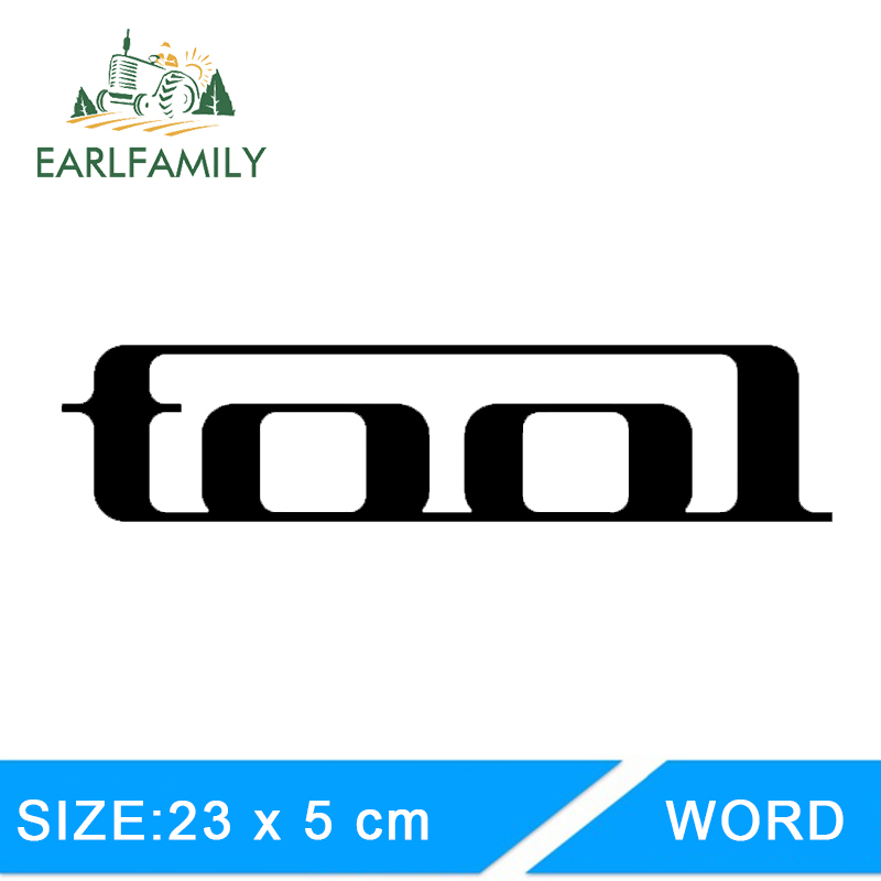 EARLFAMILY 23cm X 5cm Tool Band Rock Car Truck Window Decal Reflective Car Styling Car Sticker Motorcycle Car Decal Accessories