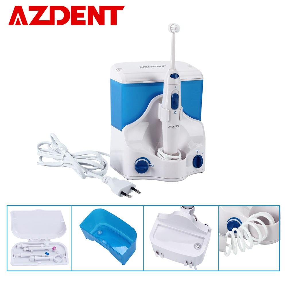 AZDENT Électrique Oral Irrigator Eau Dentaire Flosser Jet Floss cure-Dent Oral Irrigation 4 pcs Conseils 500 ml D'eau Dent la soie dentaire