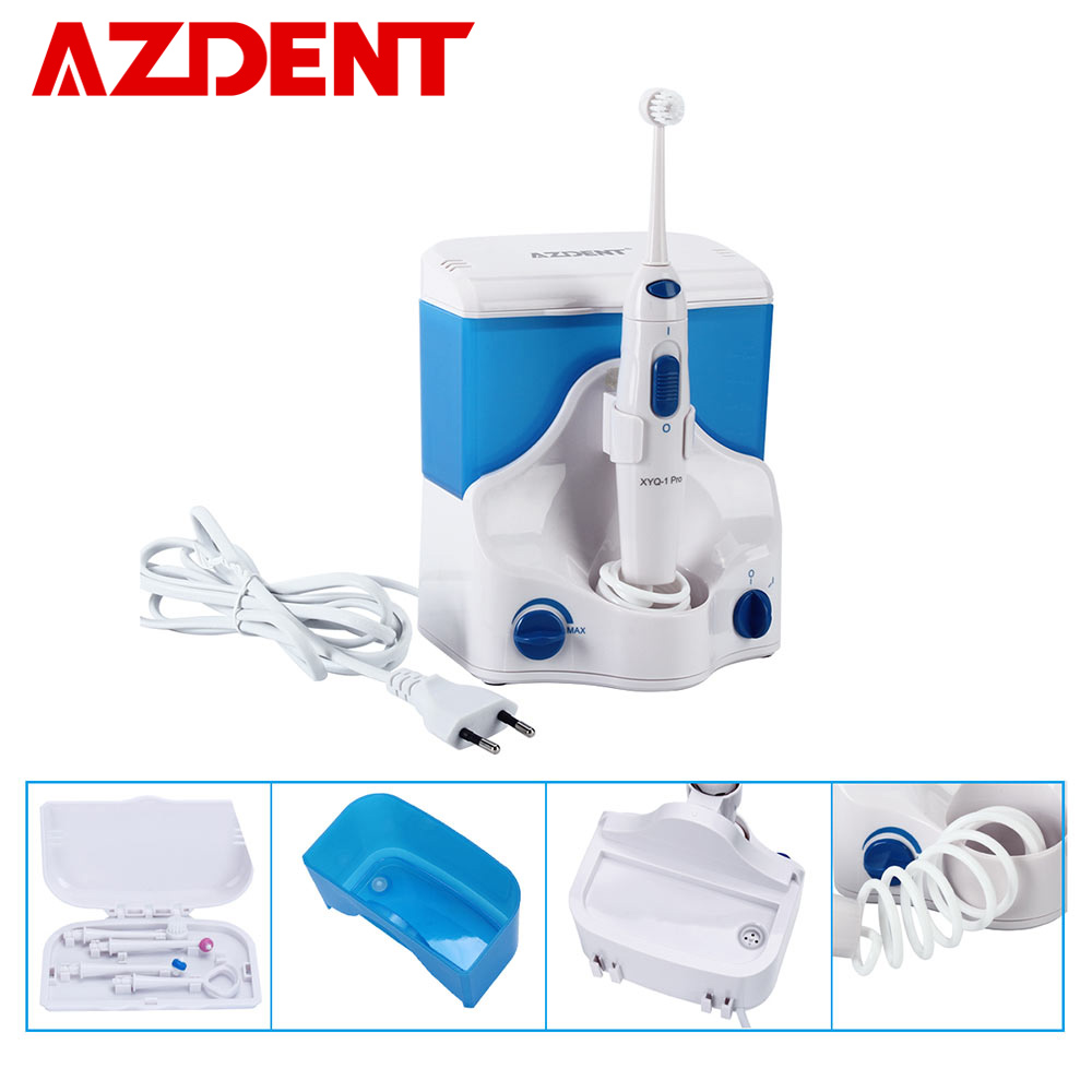 AZDENT Electric Oral Irrigator Water Dental Flosser Jet Floss Tooth Pick Oral Irrigation 4pcs Tips 500ml Water Tooth FlossingAZDENT Electric Oral Irrigator Water Dental Flosser Jet Floss Tooth Pick Oral Irrigation 4pcs Tips 500ml Water Tooth Flossing