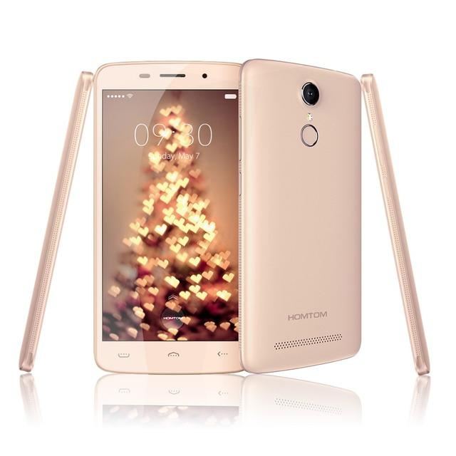 5.5 ''homtom ht17 pro android 6.0 mt6737 4g lte móvil teléfono de Cuádruple Núcleo 2 GB de RAM 16 GB de ROM del Teléfono Móvil 3000 mAh Huella Digital Smartphone