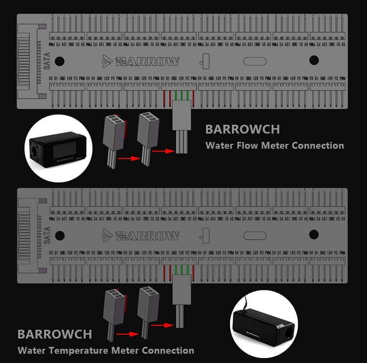 Купить с кэшбэком Barrow 16 way Remote Controller use for 6PIN Fan Header / 5V RGB Light Support Motherboard Aurora Synchronize