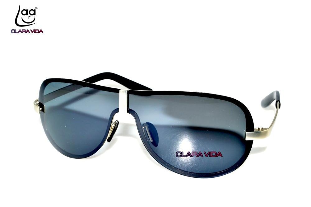 46c36711395  CLARA VIDA Sunglasses Back Coated Gunmetal Masculine Uv400 Uv100% Sun  Shade Polarized Sunglasses 8490
