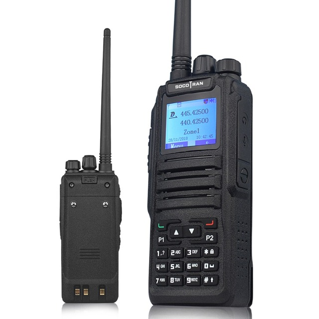 Dual Band Digital walkie talkie DM 1701 DMR Two way radio Ham Amateur Radio dual time slot Tier II ( dm 5r plus upgrade version)
