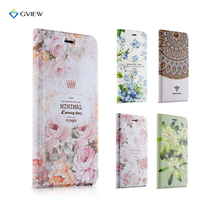Gview Case For Xiaomi Mi5 5s 3D Embossed PU Leather Flip Cover Stand In Luxury Floral