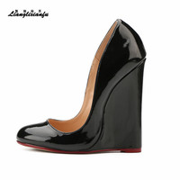 HSM Zapatos Mujer Plus US14 15 Summer Personality Stiletto Round Toe Shoes 14cm High Heels Sandals