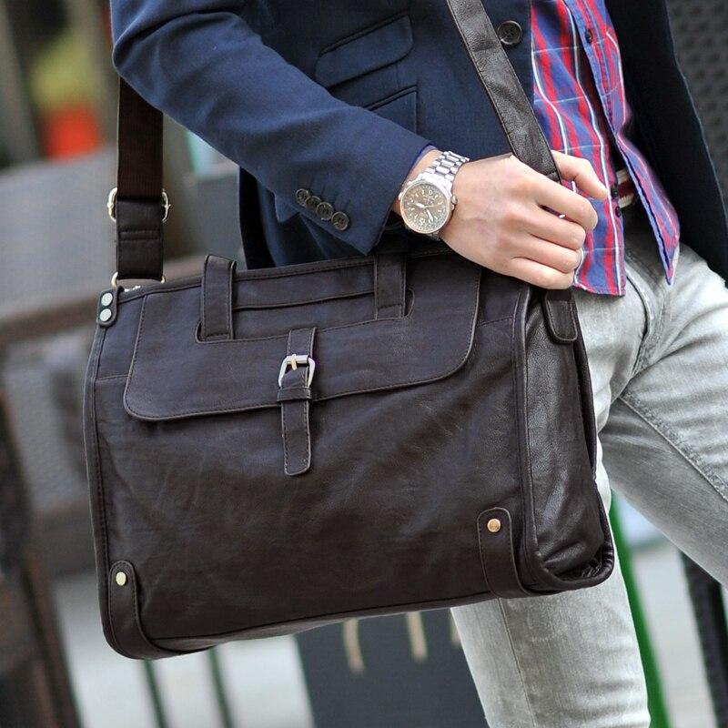 Черный Кофе Сгущает искусственная кожа Бизнес сумки Сумка Для мужчин мужской Портфели файл портфеля Ferra Для мужчин TA Для Мужчин's сумка