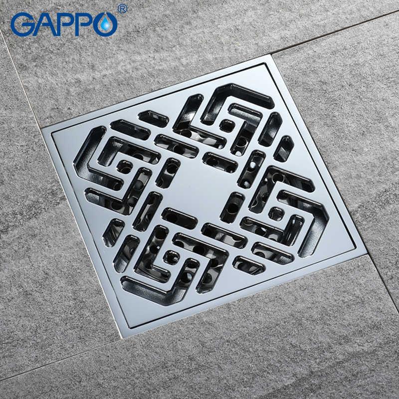 GAPPO Водостоки площади анти-запах для ванной напольные покрытия Пробка Ванна Душ Трапы Ванная комната Душ Слив Фильтр