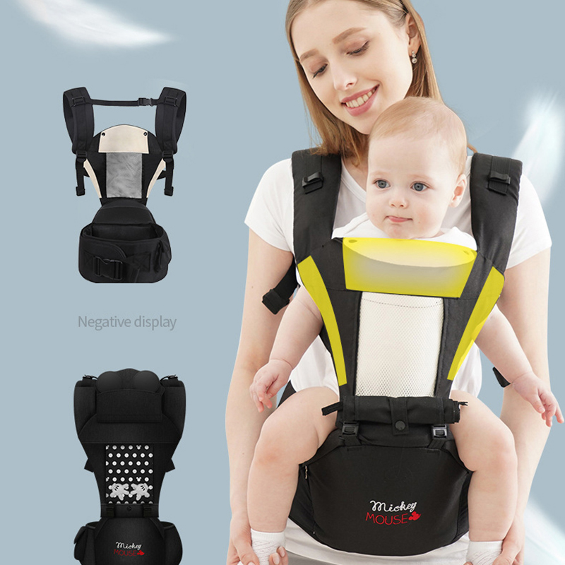Disney baby carrier backpack waist stool baby baby multi-function children's waist stool holding baby carrier with stool cartoon
