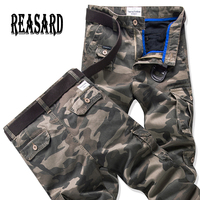 2019 Spring New Fashion Autumn Summer Army Green Camouflage Pants Loose Jeans Baggy Cargo Pants For Unisex Women Men