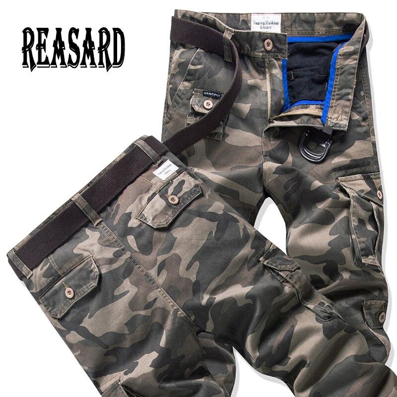 2019 printemps nouvelle mode automne-été armée vert Camouflage pantalon lâche Jeans Baggy Cargo pantalon pour unisexe femmes hommes