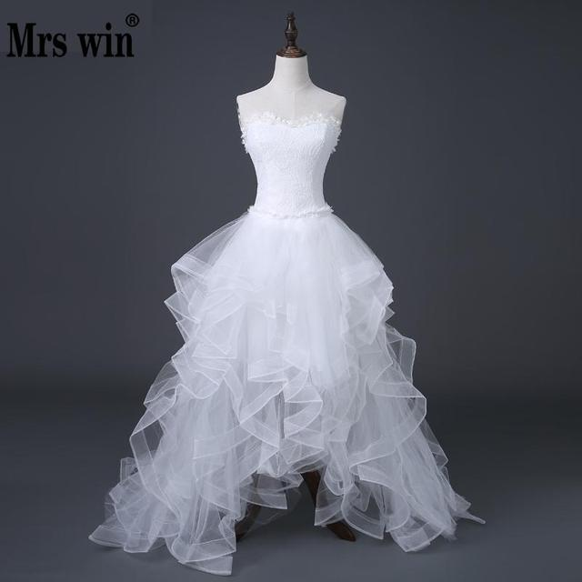 2017 Top Selling Front Short Long Back Wedding Dress Cheap Chinese ...