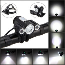 Rechargeable 10000LM XML 3xT6 LED 4.2v Adjust angle Bicycle light Bike Head Lamp