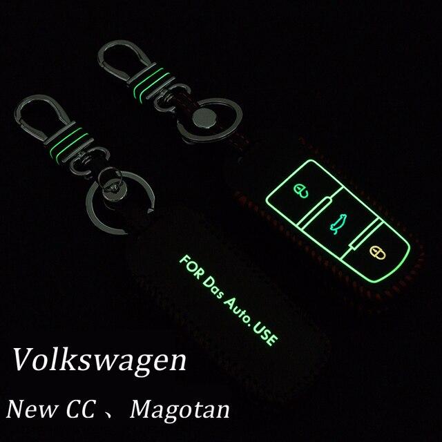 Подлинная Брелок Кожа Ключа Автомобиля Брелок Чехол Для Vw новый CC Magotan Smart Remote Key Holder Кольца бумажник Авто аксессуары