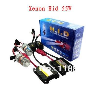 Free shipping HID xenon lights kit H1 H3 H7 H8 H9 H10 H11 H16 9005 9006 HB3 HB4 55 w slim ballast is 6000K  8000K  10000K 12000K