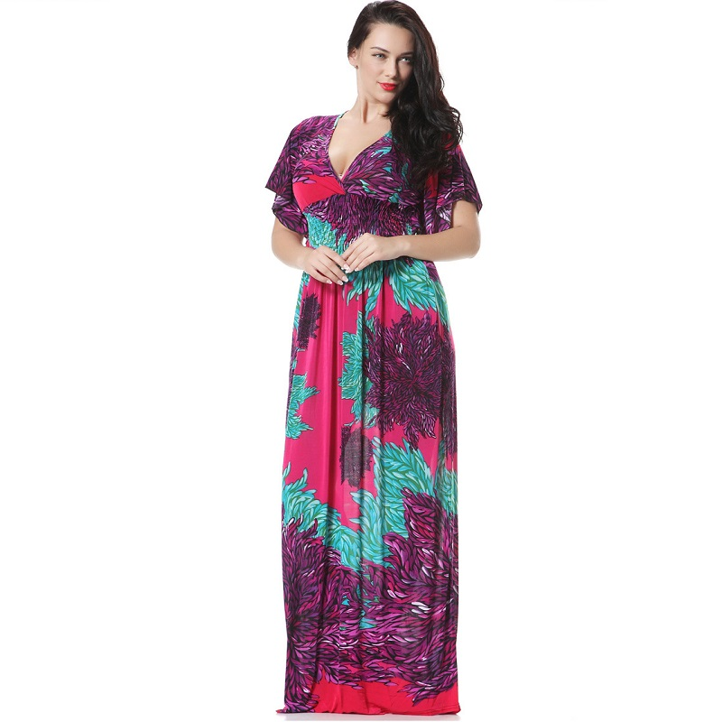 f64e3ae8ccc9 Pippyra- Long Maternity Maxi Bohemian Dress with Floaty Flattering Sleeves  Plus ...