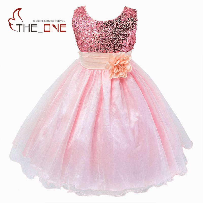 Girls Princess Party Flower Belt Lace Dress Girl Summer Wedding Dress Children Sequined Evening Dresses Baby Kids Clothing T158 flower baby dresses girls kids evening party dresses for girl clothes infant princess prom dress teenager children girl clothing