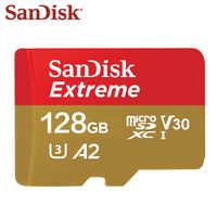 Sandisk oryginalny karty pamięci ekstremalne mikro karty SD A2 A1 V30 U3 Flash karty 64GB karta TF o pojemności 32GB 128GB taktowanie pamięci Microsd za darmo statek