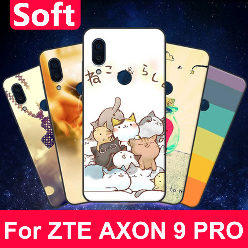 For ZTE AXON 9 PRO Case coque Country style soft Silicone phone Case For ZTE AXON9 PRO Cover A2019Pro Protection Shell capas
