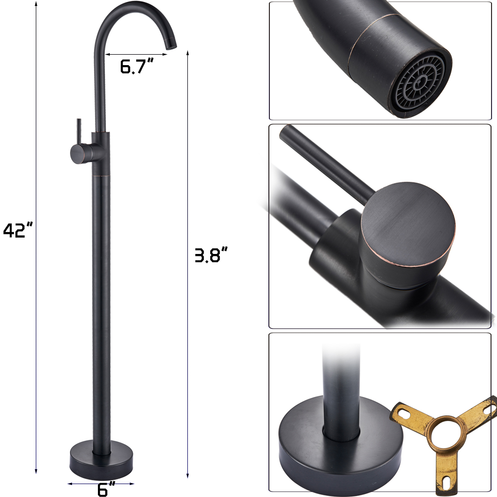 Black Bronze Free Standing Bathtub Faucet  Bathroom Tub Sink Tap Brass Rotate Spout Claw Floor Mounted Tub Mixer Faucets