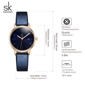 Image 5 - Shengke Fashion New Women Watches Bright Leather Strap Wrist Watch Reloj Mujer 2019 Ladies Quartz Watch Clock Montre Femme#9715