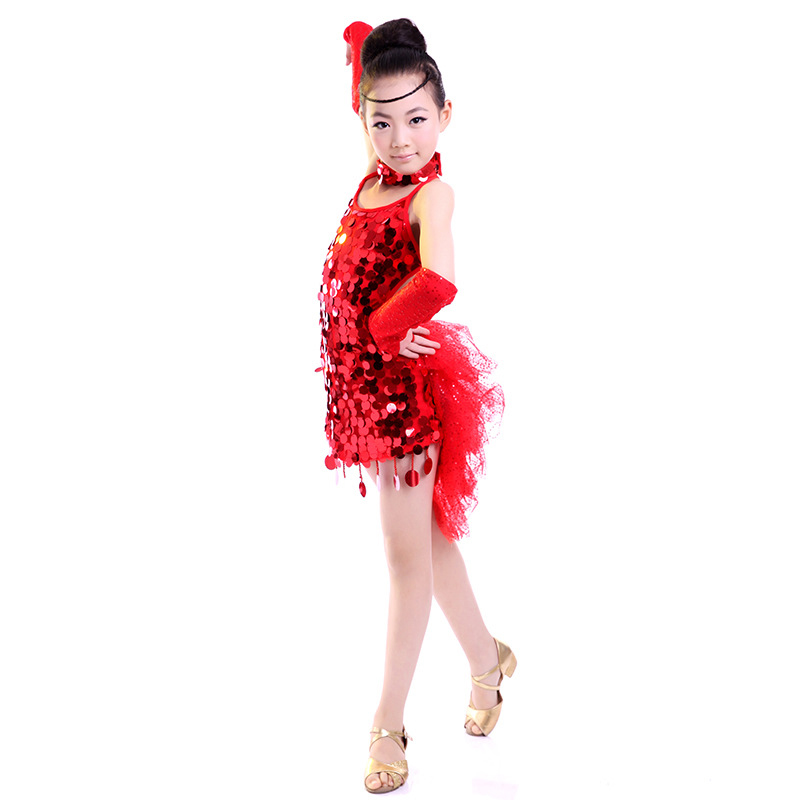 Performance clothing Children Latin Ballroom Dance Dress Girl Dance Costume Girls dance clothes wholesale