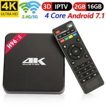 H96 II Android TV Box Amlogic S905X Android 7.1 2 GB/16 GB 2.4G+5G WiFi TV Box 4K Bluetooth 4.0 Support IPTV 4K H.265 Cortex A53
