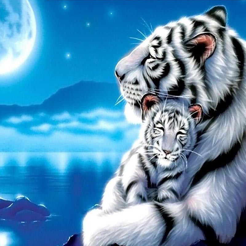 Aliexpress.com : Buy fashion White Tiger Diamond Painting