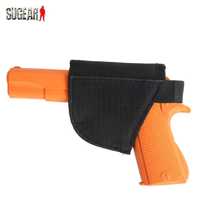 Outdoor Military Gun Hook Loop Holster Portable Tactical Pistol Handgun & Revolver Sticker Hook Holster for Belt/Bag/Hunter Vest