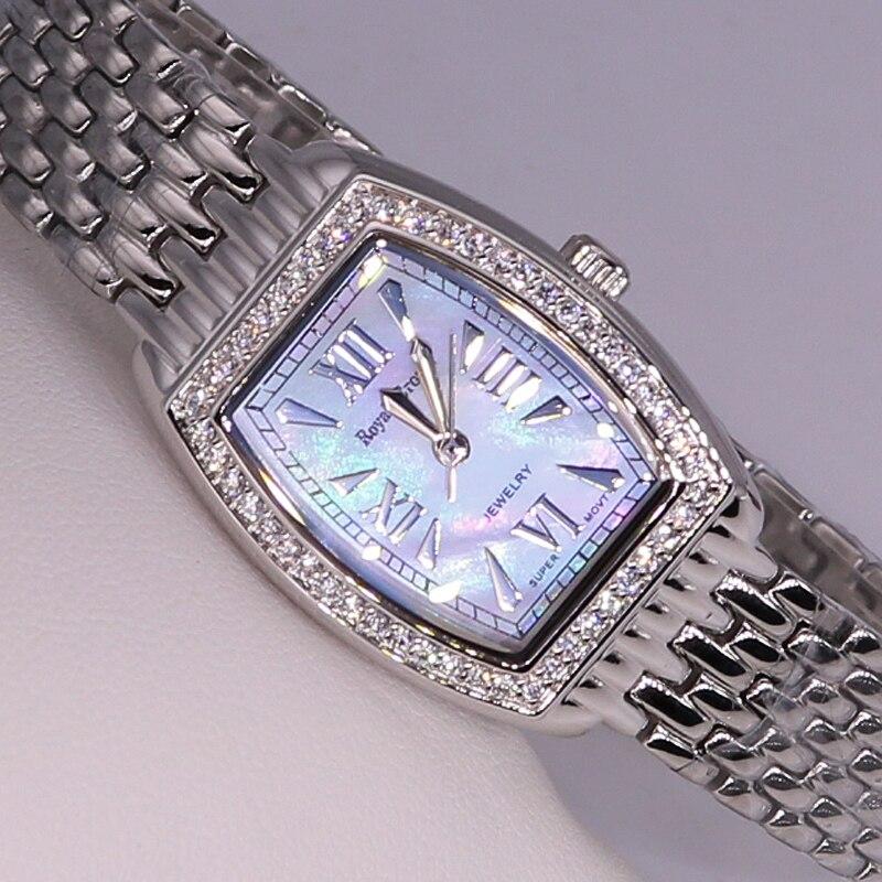 Dame Damenuhr Japan Quarz Fashion Feinen Kleid Edelstahl Armband Luxus Uhr Mädchen Geburtstagsgeschenk Royal Crown-in Damenuhren aus Uhren bei  Gruppe 3