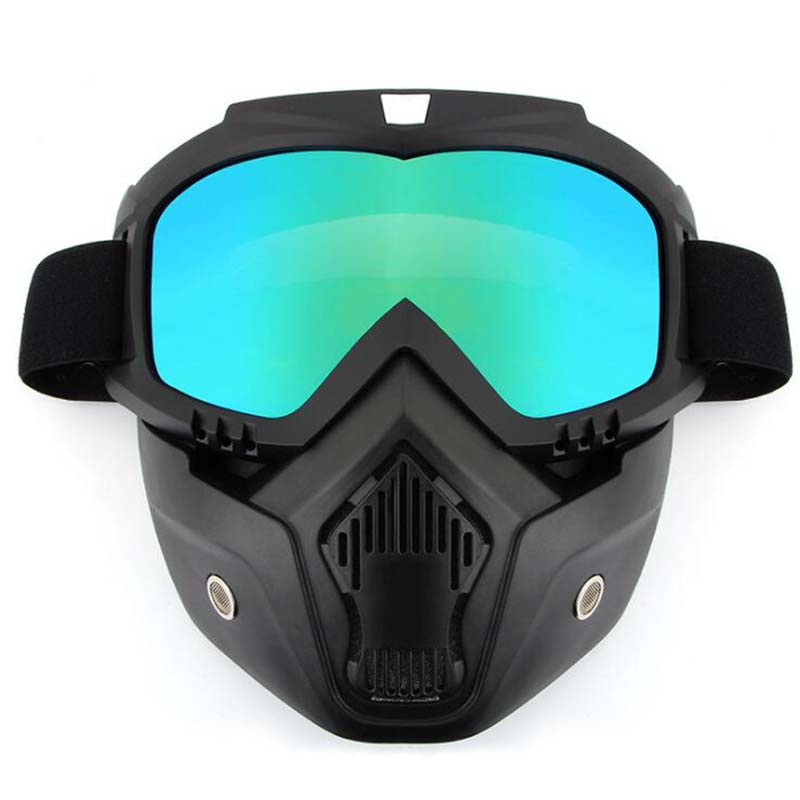 Safety Goggles Face Mask Windproof Dustproof UV-protection Eyewear Mask Removable Bicycle Motorcycle Tactical Goggles Masks