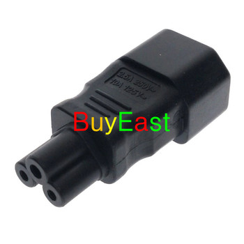 10 X IEC320 C14 to C5 pdu UPS plug female Power adapter PLUG CONVERTER C5 to C14  Black Color