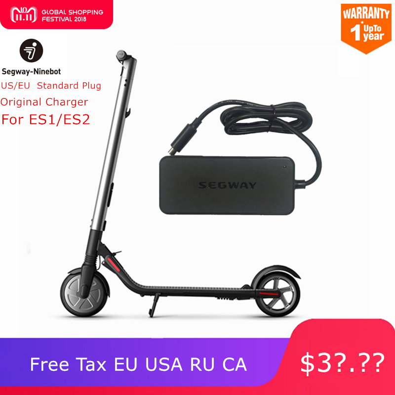 US $39 59 28% OFF Original Ninebot Charger Kits For Kickscooter ES1 ES2 42V  71W Plug Battery Power Supply for Electric Scooter Hoverboard-in Scooter