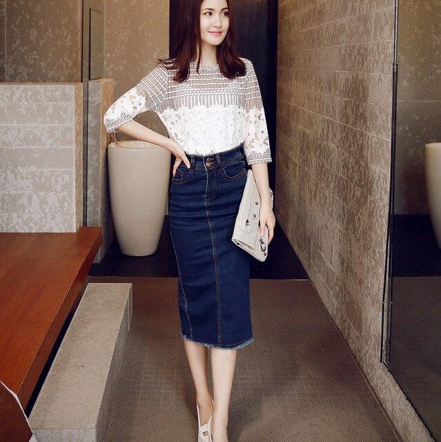 Long high waisted denim skirts – Modern skirts blog for you