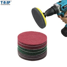 TASP 5 125mm Drill Powered Brush Tile Scrubber Scouring Pads Cleaning Kit Hook and Loop Abrasive Tools -MSCP125