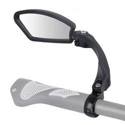 Inquebrável lente de aço inoxidável 1 pc bicicleta espelho retrovisor clara ampla gama de visão traseira da bicicleta refletor ângulo ajustável hafny