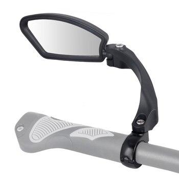 Lente de Aço Inoxidável Unbreakable 1 pc Bicicleta Espelho Refletor Claro Ampla Gama de Volta À Vista da Esquerda À Direita Ângulo Ajustável Hafny