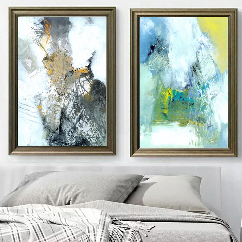 Big Canvas Art Modern Watercolor Abstract Ink Splash Big: Abstract Art Ink Oil Painting Wall Art Canvas Painting