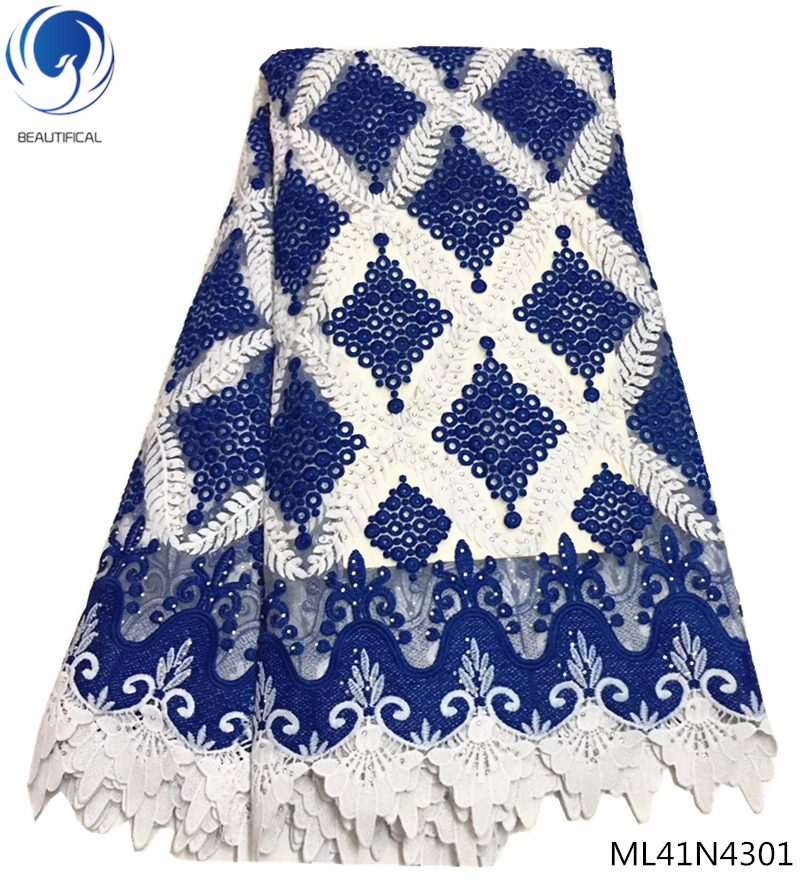 BEAUTIFICAL chemical lace embroidery fabric blue french lace fabric for wedding wholesale nigerian  ML41N43BEAUTIFICAL chemical lace embroidery fabric blue french lace fabric for wedding wholesale nigerian  ML41N43