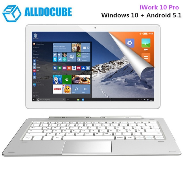 ALLDOCUBE IWORK 10 Pro Máy Tính Bảng 10.1 Inch Windows 10 Android 5.1 Intel Cherry Trail X5-Z8350 Quad Core 1.44 GHz 4 GB 64 GB