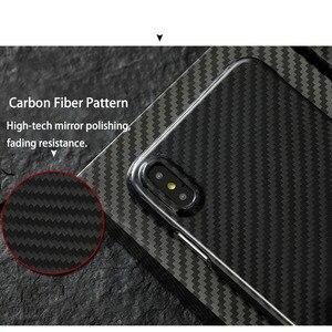 Image 5 - 0.7mm Ultra mince véritable étui en Fiber de carbone pour iPhone X couverture arrière luxe pleine Protection motif en Fiber de carbone pour étui iPhone X