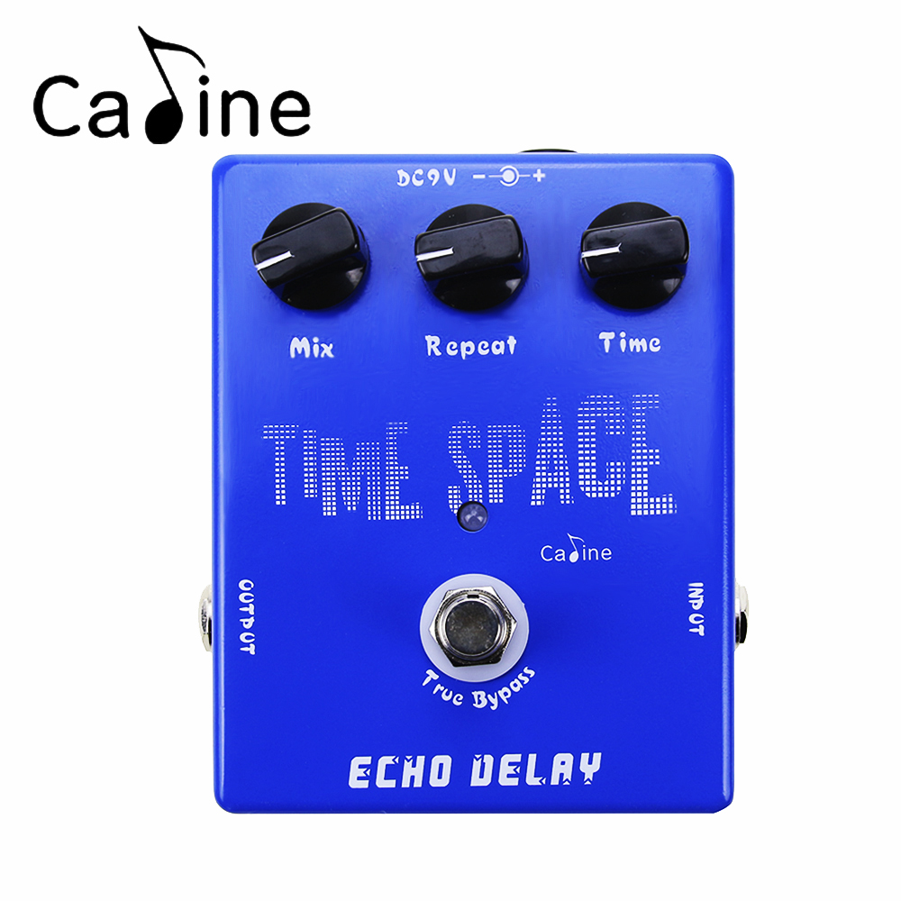 Caline CP-17 Electric Guitar Digital Delay Effect Pedal 600ms Max True Bypass Musical Instrument Guitarra Effectors aroma adl 1 true bypass delay electric guitar effect pedal high quality aluminum alloy guitar accessories delay range 50 400ms