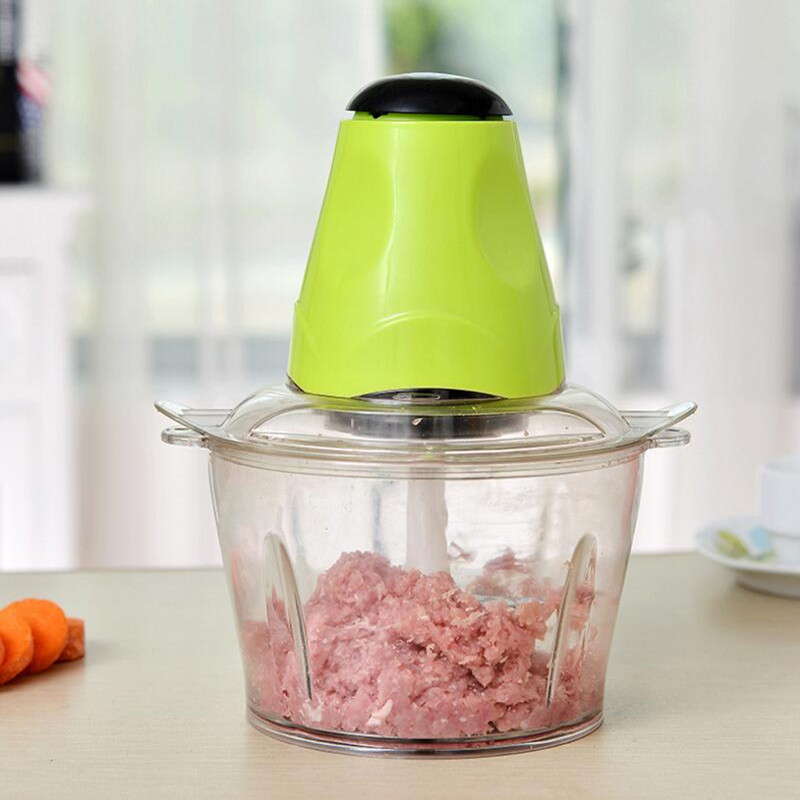 Household Electric Meat Grinder Automatic  Vegetable Fruit Mincer 2L Capacity household
