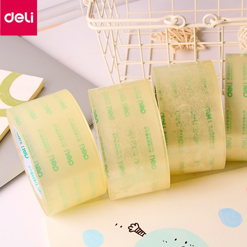 Deli Sealing Tape Transparent Packing Scotch Packing Tape Strong Viscosity Convenient Practical Sealing Tape waterproof seam sealing tape roll satellite self amalgamating rubber sealing tape sealing cable repair lead