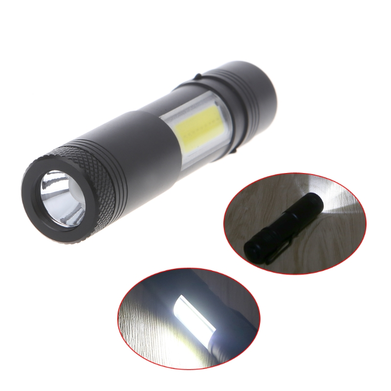 4 Modes 12000 Lumen Mini Flashlight XPE+COB LED Torch Lamp Penlight AA/14500 Energy Saving