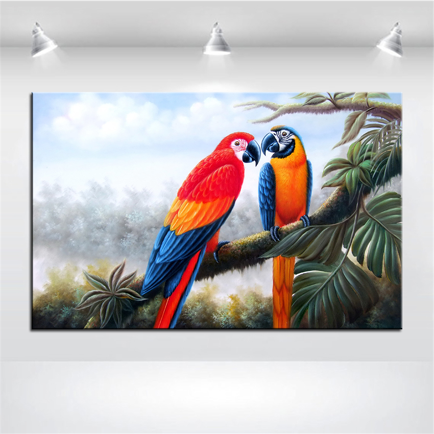 wall art wall decor wall painting the parrot talk digital oil painting print nice painting for wall picture no frame