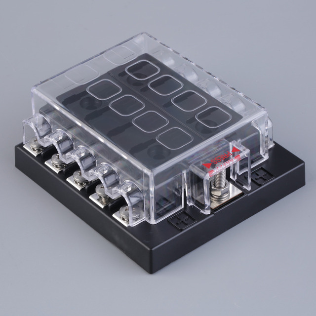 hot new way blade fuse box positive bus in v led hot new 10 way blade fuse box positive bus in 12v led warning kit