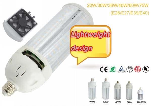 20 W 30 W 40 W 60 W 75 W E40 LED entrepôt Commercial lumière industrielle maïs E27 E26 E39 E40 Samsung 5630 LED s ampoule TUV ETL